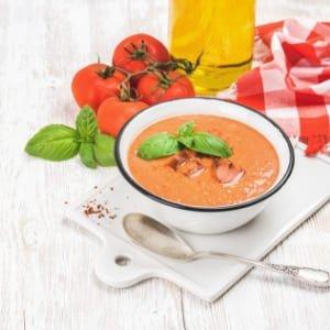 gazpacho elaborado con tomates