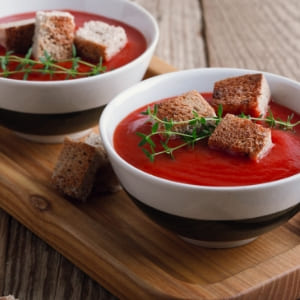 gazpacho con picatostes